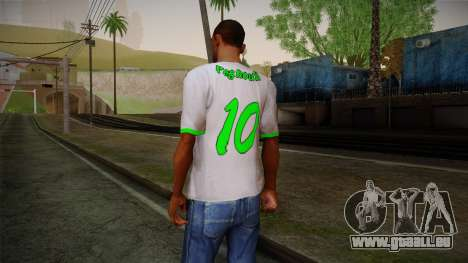 Algerian Football T-Shirt für GTA San Andreas zweiten Screenshot