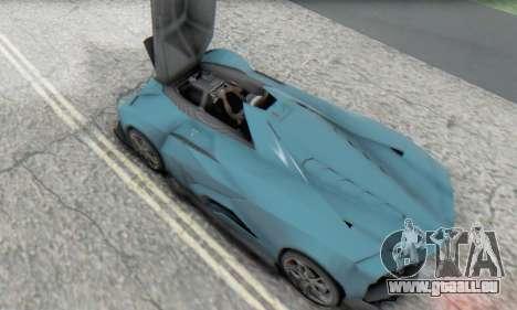 Lamborghini Egoista Concept 2013 pour GTA San Andreas vue intérieure
