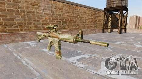 Automatique carabine MA Vert de la canne à Camo pour GTA 4