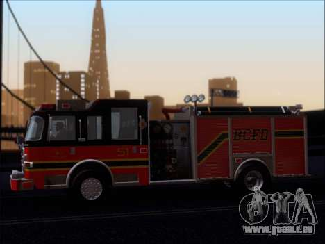 Pierce Arrow XT 2009 BCFD pour GTA San Andreas vue de dessous