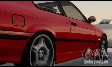 BMW M3 E36 1994 pour GTA San Andreas vue intérieure