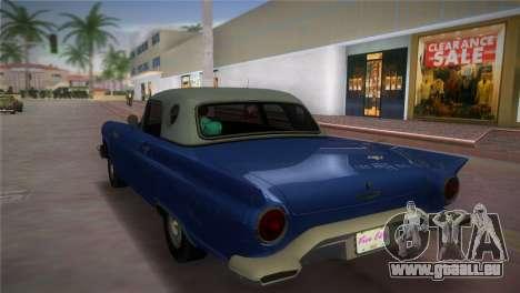 Ford Thunderbird pour une vue GTA Vice City de la gauche