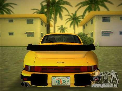Porsche 911 Turbo 3.3 Coupe US-spec (930) 1978 pour GTA Vice City sur la vue arrière gauche