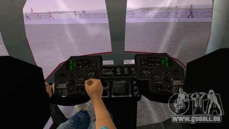 Mi-34 pour GTA Vice City sur la vue arrière gauche