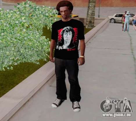 T-shirt c Viktor Tsoi für GTA San Andreas zweiten Screenshot