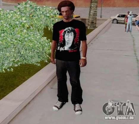 T-shirt c Viktor Tsoi pour GTA San Andreas deuxième écran