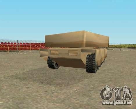 Dozuda.s Primary Tank (Rhino Export tp.) für GTA San Andreas linke Ansicht