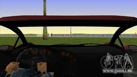 Zentorno from GTA 5 pour GTA Vice City sur la vue arrière gauche