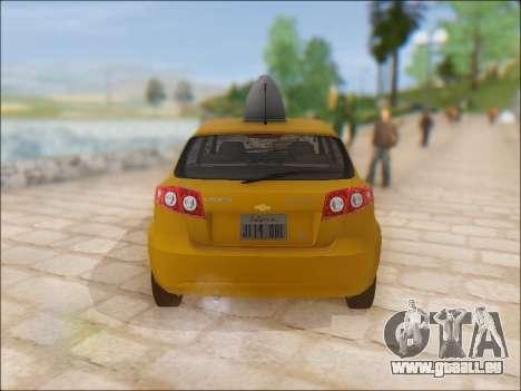 Chevrolet Lacetti Taxi pour GTA San Andreas vue de droite