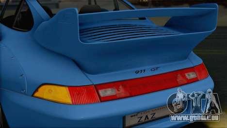 Porsche 911 GT2 (993) 1995 V1.0 SA Plate pour GTA San Andreas vue de dessus
