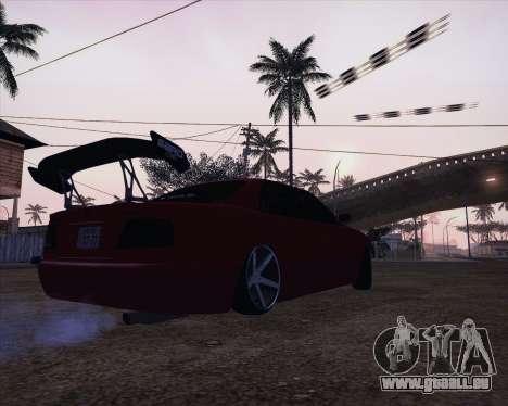 Toyota Chaser Tourer V korch pour GTA San Andreas sur la vue arrière gauche