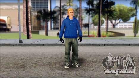 Jimmy from Bully Scholarship Edition pour GTA San Andreas deuxième écran