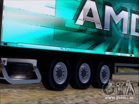 Remorque AMD Athlon 64 X2 pour GTA San Andreas vue de côté
