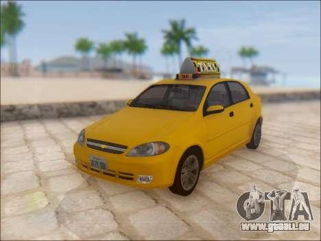Chevrolet Lacetti Taxi pour GTA San Andreas