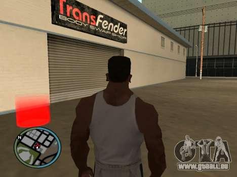 Évacuateur v1.0 pour GTA San Andreas troisième écran