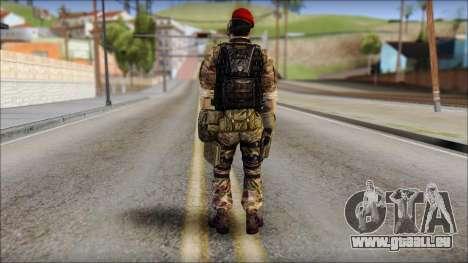 Forest GRU Vlad from Soldier Front 2 pour GTA San Andreas deuxième écran
