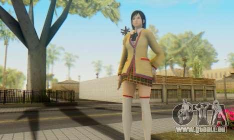Kokoro wearing a school uniform (DOA5) für GTA San Andreas her Screenshot