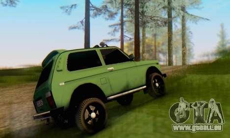 VAZ 21213 pour GTA San Andreas sur la vue arrière gauche