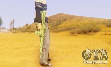Camo M16 pour GTA San Andreas quatrième écran