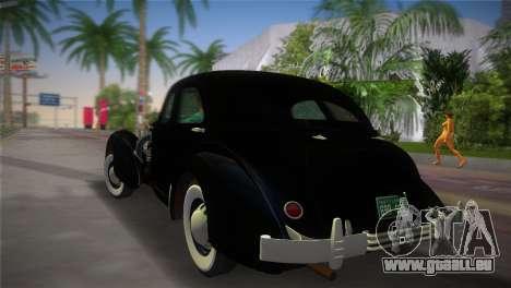 Cord 812 Charged Beverly Sedan 1937 pour une vue GTA Vice City de la gauche