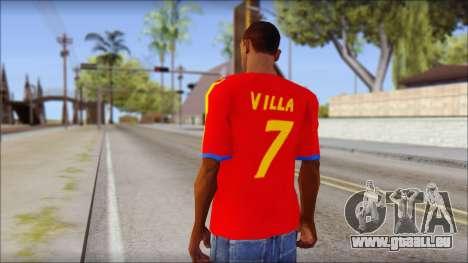 Spanish Football Shirt für GTA San Andreas zweiten Screenshot