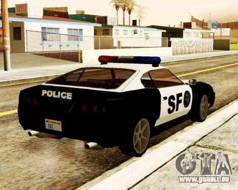 Jester Police SF pour GTA San Andreas sur la vue arrière gauche