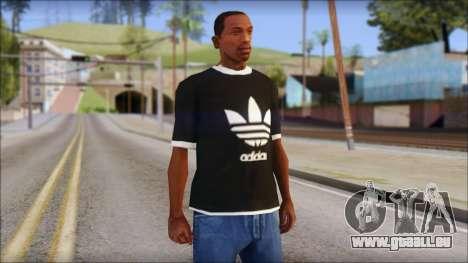Adidas Black T-Shirt für GTA San Andreas