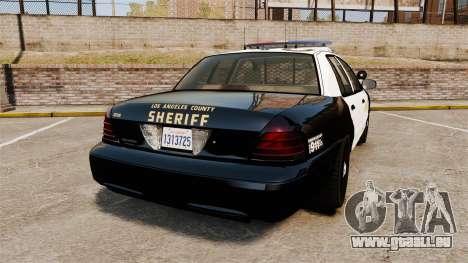 Ford Crown Victoria Sheriff [ELS] Marked für GTA 4 hinten links Ansicht