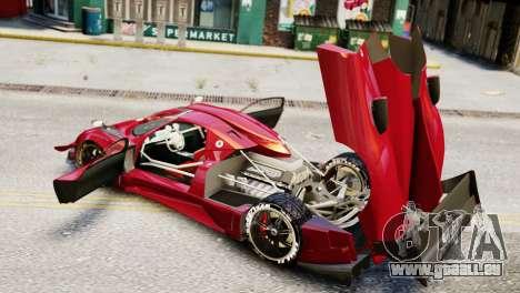 Pagani Zonda Autosport pour GTA 4 Vue arrière de la gauche