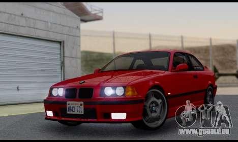 BMW M3 E36 1994 pour GTA San Andreas vue arrière