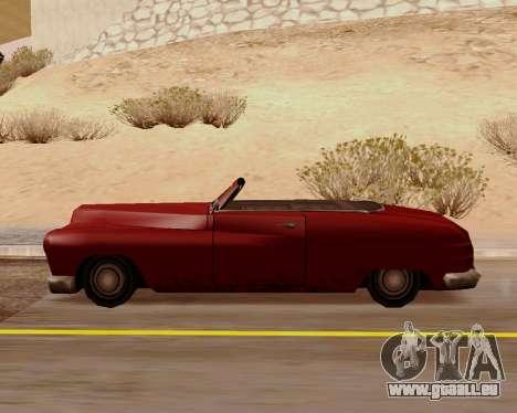 Hermes Convertible pour GTA San Andreas laissé vue
