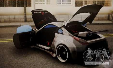 Nissan 350z Angel Beast Itasha Edition für GTA San Andreas Rückansicht