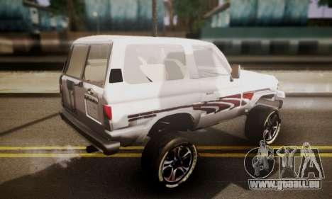 Toyota Land Cruiser LC 70 pour GTA San Andreas laissé vue
