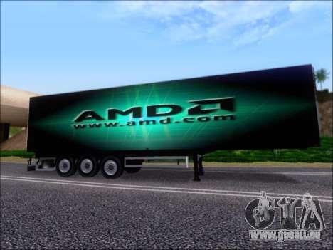Remorque AMD Phenom X4 pour GTA San Andreas moteur