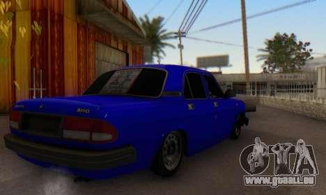 GAZ 3110 Volga LT pour GTA San Andreas sur la vue arrière gauche
