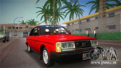 Volvo 242 Turbo Evolution pour GTA Vice City sur la vue arrière gauche