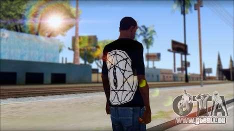 SlipKnoT T-Shirt mod für GTA San Andreas zweiten Screenshot