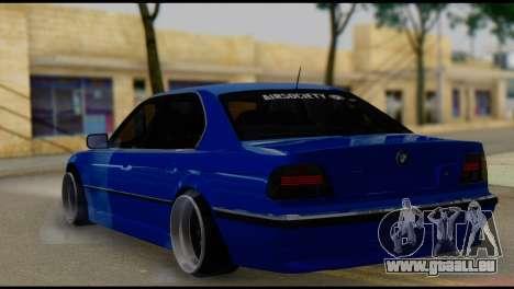 BMW 740i E38 pour GTA San Andreas laissé vue