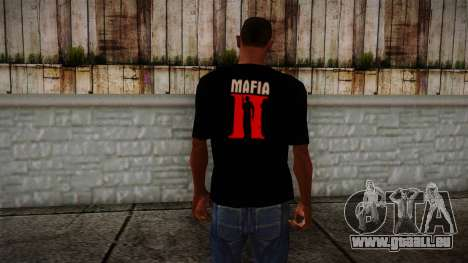 Mafia 2 Black Shirt pour GTA San Andreas deuxième écran