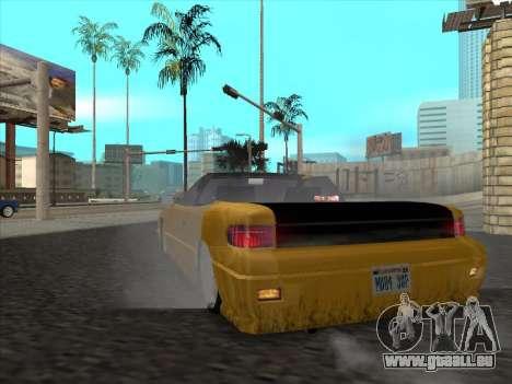 Alpha HD Cabrio pour GTA San Andreas vue de droite