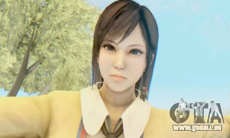 Kokoro wearing a school uniform (DOA5) für GTA San Andreas