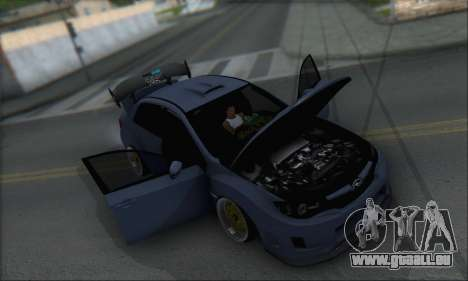 Subaru Impreza WRX STI 2010 für GTA San Andreas Unteransicht