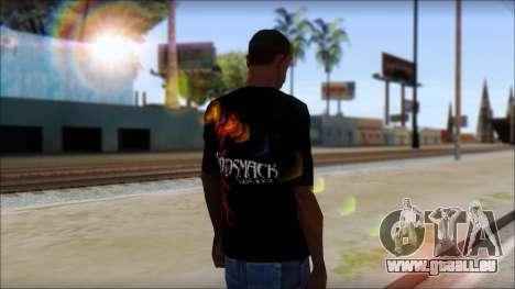 Godsmack T-Shirt für GTA San Andreas dritten Screenshot