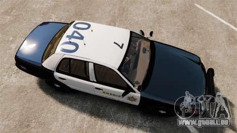 Ford Crown Victoria Sheriff [ELS] Slicktop pour GTA 4 est un droit