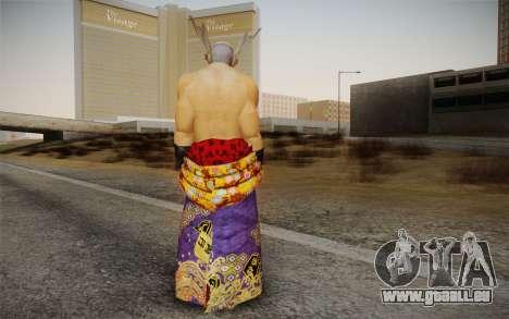 Heihachi Mishima v2 pour GTA San Andreas deuxième écran