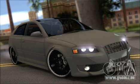 Audi S3 2006 Custom für GTA San Andreas rechten Ansicht