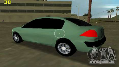 Renault Megane Sedan 2001 für GTA Vice City zurück linke Ansicht