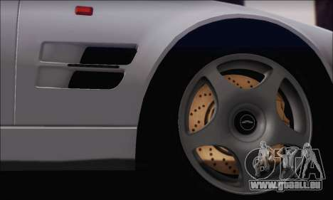 Aston Martin V8 Vantage V600 1998 pour GTA San Andreas vue arrière