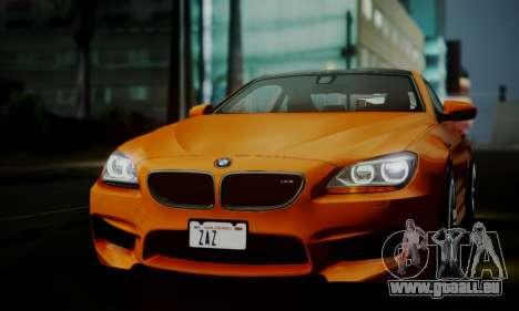 BMW M6 F13 2013 pour GTA San Andreas vue de dessus