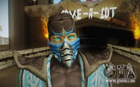Sub Zero Skin v2 pour GTA San Andreas troisième écran
